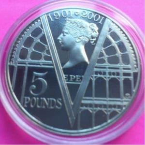 2001-ROYAL-MINT-QUEEN-VICTORIA-PROOF-5-FIVE-POUND-CROWN-COIN-330867331566