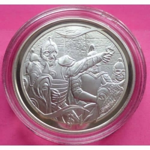 2003-NEW-ZEALAND-SILVER-LORD-OF-THE-RINGS-HELMS-DEEP-1-PROOF-COIN-COA-330948137910
