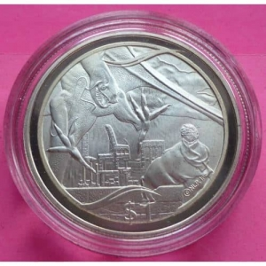 2003-NEW-ZEALAND-SILVER-LOTR-BATTLE-OF-MINAS-TRIRITH-1-PROOF-COIN-COA-330948127682