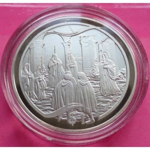 2003-NEW-ZEALAND-SILVER-LOTR-KNIFE-IN-THE-DARK-1-PROOF-COIN-COA-330948113988