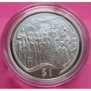 2003-NEW-ZEALAND-SILVER-LOTR-THE-COUNCIL-OF-ELROND-1-PROOF-COIN-COA-330948125182