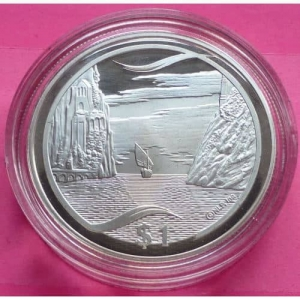 2003-NEW-ZEALAND-SILVER-LOTR-TRAVEL-TO-THE-UNDYING-LANDS-1-PROOF-COIN-COA-330948118287