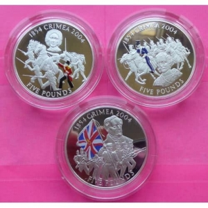 2004-GUERNSEY-CRIMEA-WAR-150TH-ANN-5-SILVER-PROOF-3-COIN-SET-WITH-MEDAL-RARE-331152272918