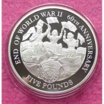 2005-ALDERNEY-END-OF-WWII-60TH-ANNIVERSARY-FIVE-POUND-SILVER-PROOF-COIN-COA-231227163319