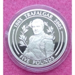 2005-GIBRALTAR-BATTLE-OF-TRAFALGAR-NAPOLEAN-BONAPARTE-5-SILVER-PROOF-COIN-COA-231224564419