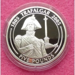 2005-GIBRALTAR-BATTLE-OF-TRAFALGAR-NELSONS-COLUMN-5-SILVER-PROOF-COIN-COA-231223893172