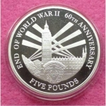 2005-JERSEY-END-OF-WWII-60TH-ANNIVERSARY-FIVE-POUND-SILVER-PROOF-COIN-COA-231227191407