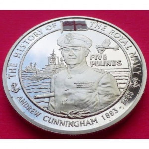 2005-JERSEY-THE-ROYAL-NAVY-ANDREW-CUNNINGHAM-5-SILVER-PROOF-COIN-COA-231189221685