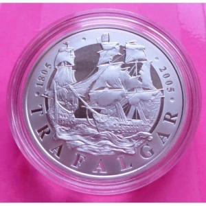 2005-ROYAL-MINT-200TH-ANN-BATTLE-OF-TRAFALGAR-SILVER-PROOF-5-FIVE-POUND-COIN-330922489020
