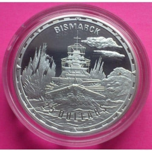 2005-ROYAL-MINT-LEGENDARY-FIGHTING-SHIPS-BISMARCK-25-SILVER-PROOF-10Z-COIN-330876785035