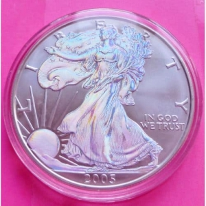 2005-SILVER-EAGLE-1-ONE-DOLLAR-COIN-LOVELY-COIN-WITH-BOX-AND-COA-330923993059