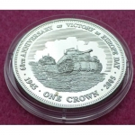 2005-TDC-END-OF-WWII-60TH-ANNIVERSARY-ONE-CROWN-SILVER-PROOF-COIN-COA-231227153196