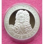 2006-ALDERNEY-GREAT-BRITONS-SIR-ISAAC-NEWTON-5-SILVER-PROOF-COIN-COA-331195415121