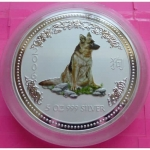 2006-AUSTRALIA-SILVER-YEAR-OF-THE-DOG-5OZ-COLOURISED-COIN-BIG-AND-BEAUTIFUL-231014566672