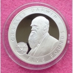 2006-JERSEY-GREAT-BRITONS-CHARLES-DARWIN-5-SILVER-PROOF-COIN-COA-331195399094