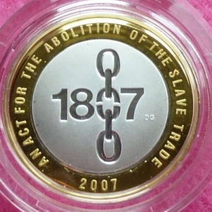 2007-ROYAL-MINT-ABOLITION-OF-SLAVERY-SILVER-GOLD-2-TWO-POUND-PROOF-331193363765