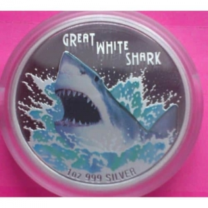 2007-TUVALU-GREAT-WHITE-SHARK-SILVER-PROOF-AUSTRALIAN-VERSION-COIN-RARE-COIN-231032058264
