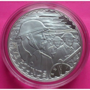 2008-ALDERNEY-WORLD-WAR-ONE-90TH-ANNOVER-THE-TOP-5-FIVE-POUND-SILVER-PROOF-330889939318