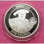 2008-GIBRALTAR-KING-HENRY-VIII-FIVE-POUND-SILVER-PROOF-COIN-331218671978