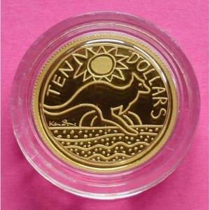 2009-AUSTRALIA-KEN-DONE-DESIGN-KANGAROO-110TH-GOLD-PROOF-COIN-BOX-AND-COA-231032097340