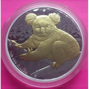2009-AUSTRALIAN-SILVER-GOLD-KOALA-1-ONE-DOLLAR-COIN-ISSUED-BY-PERTH-MINT-330899437043