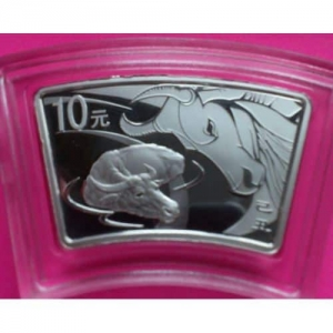 2009-CHINA-LUNAR-OX-FAN-SHAPED-SILVER-COIN-10-YUAN-WITH-COA-AND-BOX-330876929109