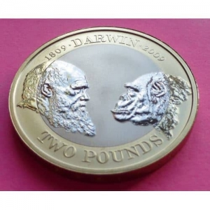 2009-ROYAL-MINT-CHARLES-DARWIN-200TH-ANNIVERSARY-2-TWO-POUND-PROOF-COIN-231079806879