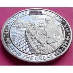 2009-ROYAL-MINT-ROYAL-NAVY-ALFRED-THE-GREAT-5-FIVE-POUND-PROOF-CROWN-COIN-331132444800