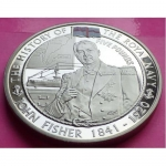 2009-ROYAL-MINT-ROYAL-NAVY-JOHN-FISHER-5-FIVE-POUND-PROOF-CROWN-COIN-231161964346