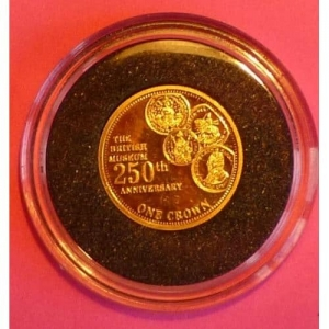 2009-TDC-BRITISH-MUSEUM-250TH-ANN-ONE-CROWN-24-CT-GOLD-PROOF-COIN-AND-COA-330885645175
