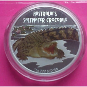 2009-TUVALU-SALTWATER-CROCODILE-SILVER-PROOF-AUSTRALIAN-VERSION-COIN-RARE-COIN-330899417823