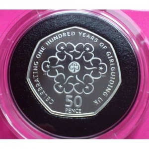 2010-ROYAL-MINT-SILVER-PIEDFORT-GIRL-GUIDES-100TH-ANN-FIFTY-PENCE-PROOF-COIN-330902848742