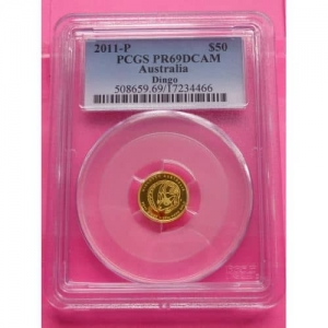 2011-P-AUSTRALIA-GOLD-DINGO-PROOF-5-DOLLARS-PCGS-PR69-NO-70S-UNIQUE-COIN-330945003231