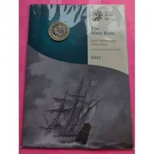 2011-ROYAL-MINT-MARY-ROSE-BRILLIANT-UNCIRCULATED-2-TWO-POUND-COIN-331137786872