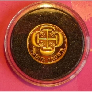 2011-TDC-CRUSADERS-CROSS-ONE-CROWN-24-CT-GOLD-PROOF-COIN-AND-COA-330885647919