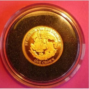 2011-TDC-ST-GEORGE-AND-THE-DRAGON-ONE-CROWN-24-CT-GOLD-PROOF-COIN-AND-COA-330885644232