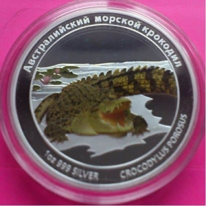 2011-TUVALU-SALTWATER-CROCODILE-SILVER-PROOF-RUSSIAN-VERSION-COIN-RARE-COIN-330894559952