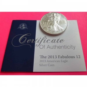 2013-EAGLE-1-ONE-DOLLAR-SILVER-COIN-WITH-COA-GORGEOUS-231187667797