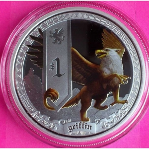 2013-TUVALU-SILVER-MYTHICAL-CREATURES-GRIFFIN-1-DOLLAR-PROOF-COIN-BOX-COA-330886948499