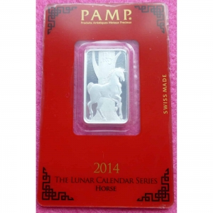 2014-PAMP-SILVER-LUNAR-YEAR-OF-THE-HORSE-BULLION-BAR-999-10-GRAMS-BRAND-NEW-331191603879