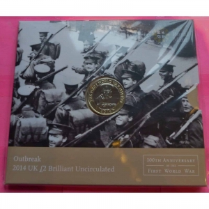 2014-ROYAL-MINT-100TH-ANNIVERSARY-OF-WORLD-WAR-ONE-2-TWO-POUND-BU-COIN-331105843370